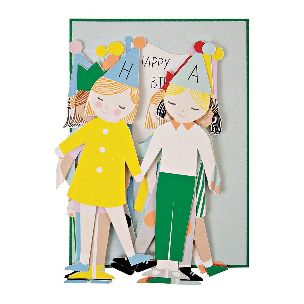 Amazon.com: Meri Meri Concertina niños Tarjeta de cumpleaños ...