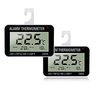 Frigorífico Termómetro Digital Alarma Termómetro – stylissima ngcar 2 pieza pantalla LCD Termómetro para exteriores Home