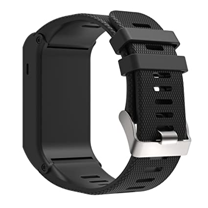 a445b8890 XIHAMA Replacement Band for Garmin Vivoactive HR, Silicone Replacement  Fitness Bands Wristbands with Metal Clasps