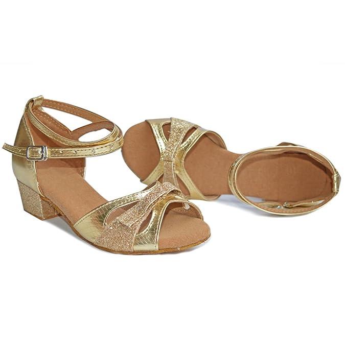 misu - Zapatillas de danza para niña dorado dorado, color dorado, talla 45.5 EU
