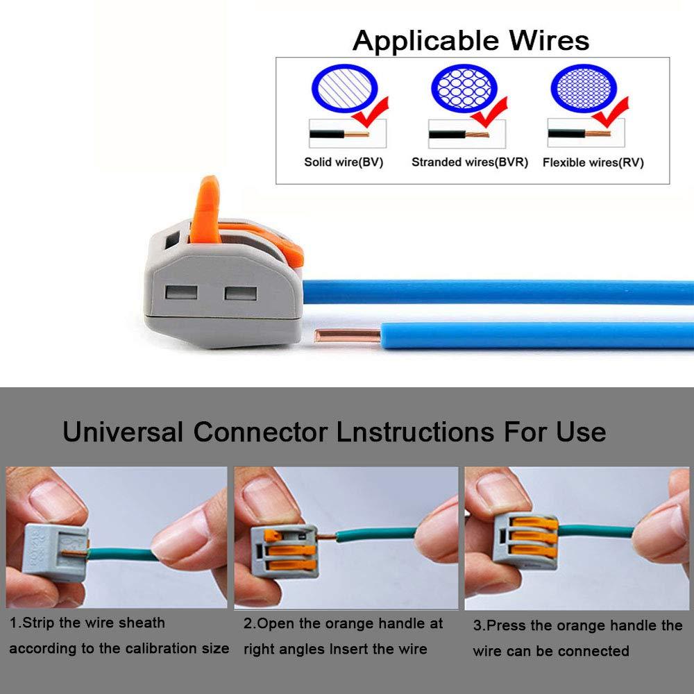 riutilizzabili kit conduttori per cavi elettrici con custodia Morsetti a molla per dadi e dadi a 4 porte