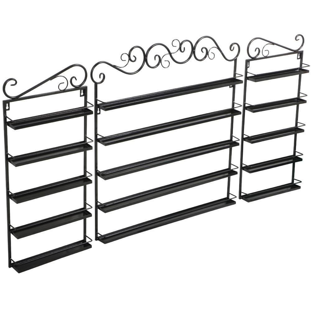 Topeakmart Nail Polish Wall Rack Holder 5 Tier for Nail Polish or Essential Oils Holds Up to 200 Bottles – Black