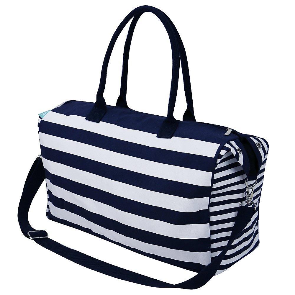 Bolso gigante de la playa de la lona con las correas largas, bolso de hombro grande de la mujer, bolso del recorrido