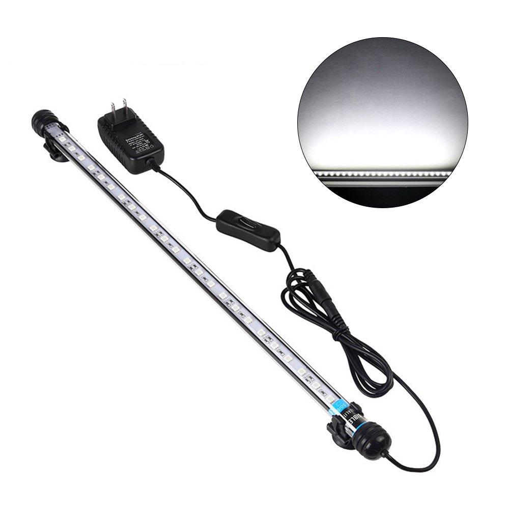 UEETEK 48CM LED Pecera Luces Iluminación del acuario 5050 SMD RGB Barra de luz Subacuática sumergible