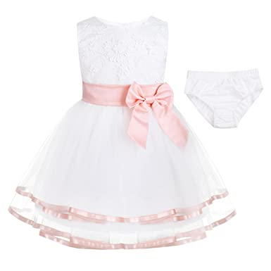 da723598f Amazon.com  CHICTRY Infant Baby Girls Dress Embroidered Christening ...