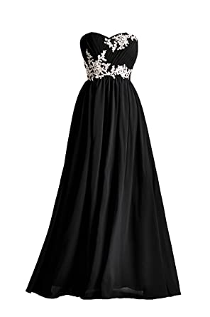 Prom Dresses Lace Special Occasion Gown Formal Dresses For Women Long Bridesmaid Dress, Color Black