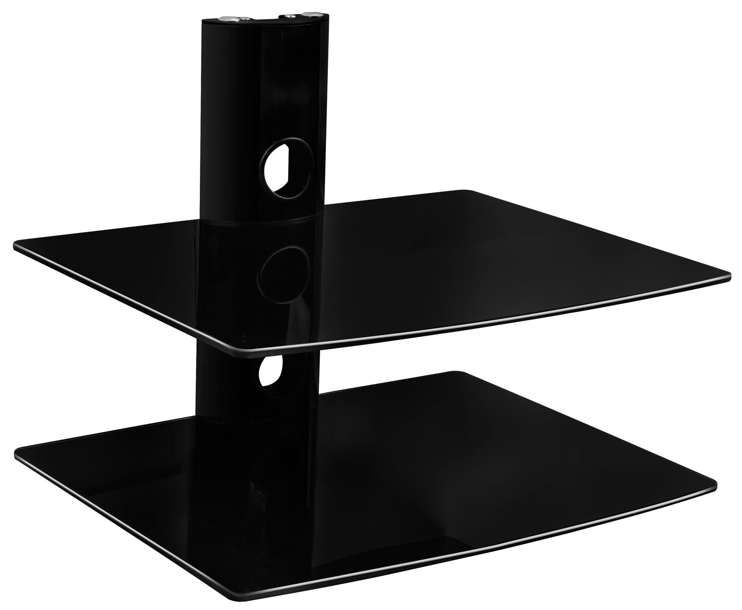 amazon com eclipse black 2 shelf component dvd cable box wall mount rh amazon com component wall shelf component shelves wall mount