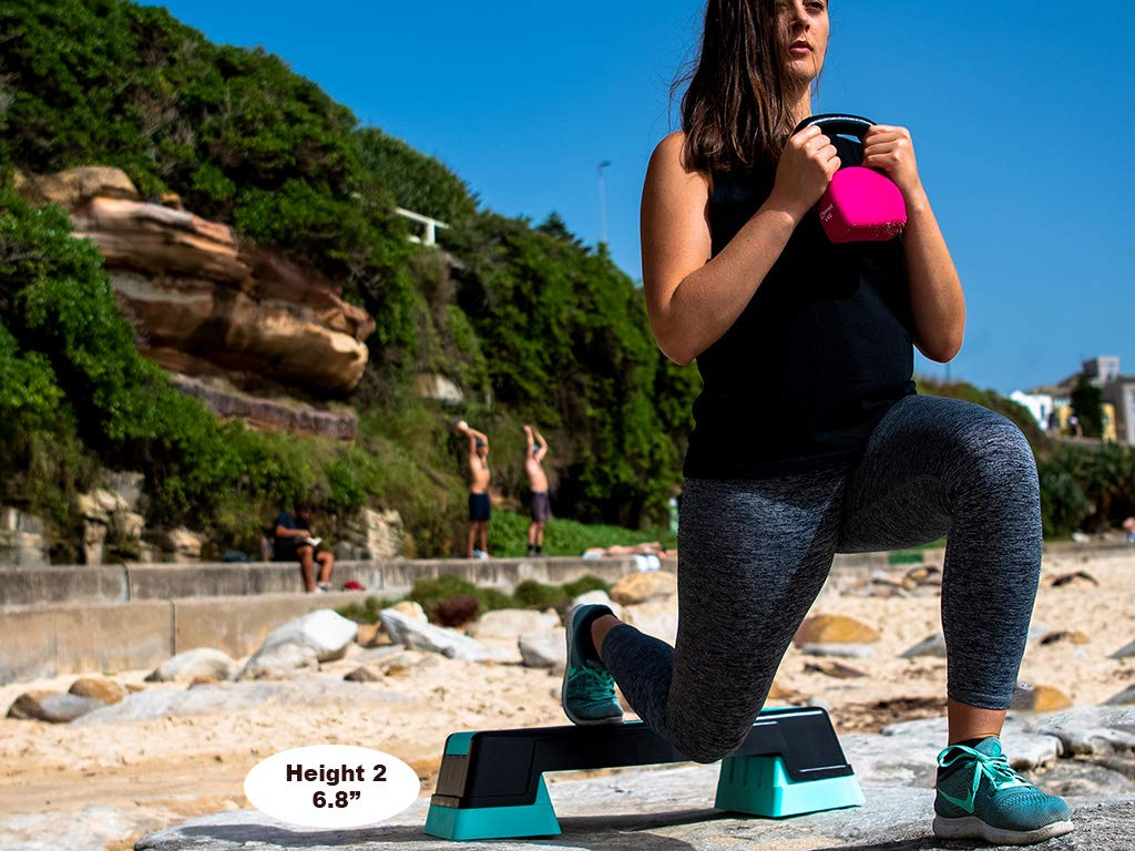 Unleashed Women's 3 Height Adjustable Aerobic Workout Step Platform + Free eBook by unleaSHEd     (Image #4)