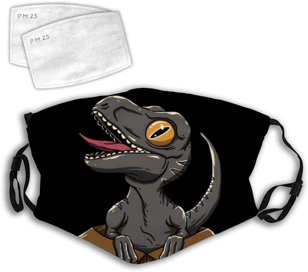Adultos Ajustable Anti Polvo Dinosaurio 1 Dibujos Animados Halloween Boca Bufanda Cara pasamonta/ñas para Acampar Diadema para Hombres ni/ños