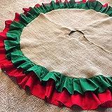 58'' Double Ruffle Burlap Christmas Tree Skirt