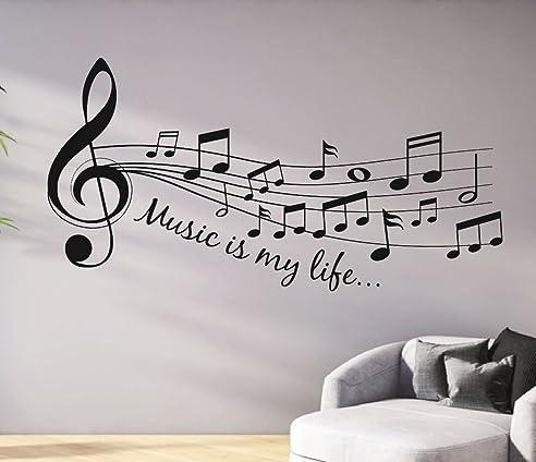 Wandtattoo musik ist reuniecollegenoetsele for Wandtattoo jugendzimmer