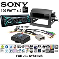Volunteer Audio Sony MEX-XB100BT Double Din Radio Install Kit with Bluetooth, CD Player, USB/AUX Fits 2004-2010 Toyota Sienna - (For JBL Vehicles)