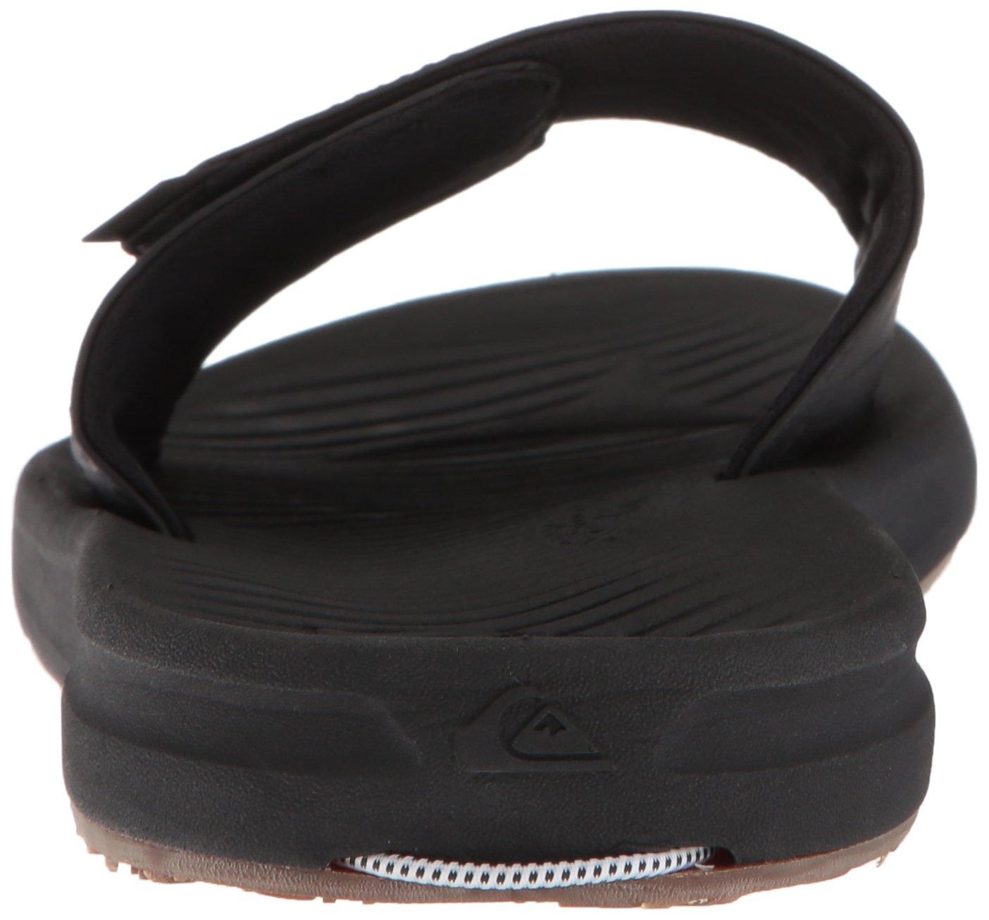 Quiksilver Men's Travel Oasis Slide Sandal, Black/Black/Brown, 8(41) M US by Quiksilver (Image #2)