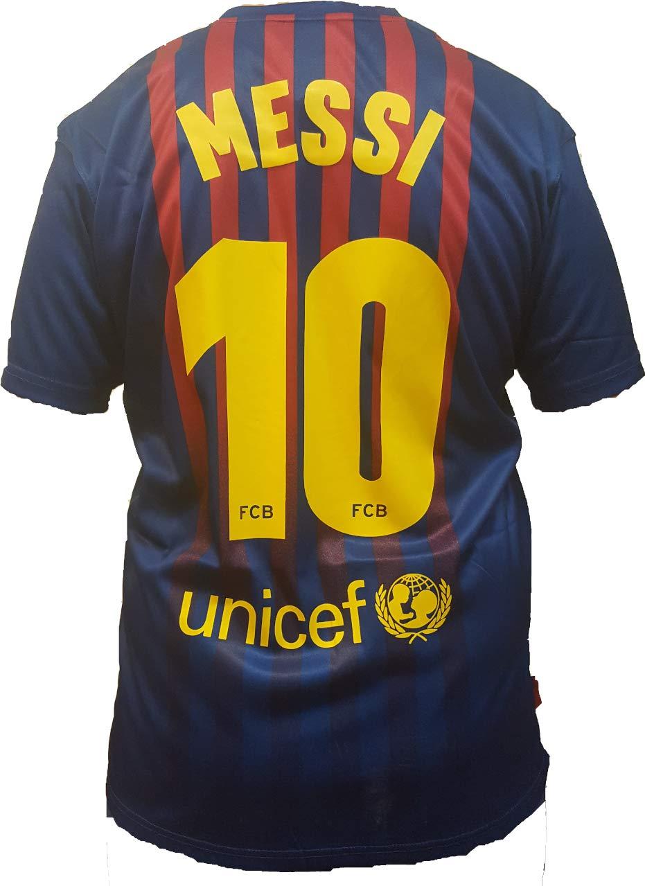 Barcellona Maglia Lionel Messi 10 Replica Autorizzata 2018-2019 Bambino/Ragazzo (Taglie-Anni 2 4 6 8 10 12 14) Adulto (S M L XL)