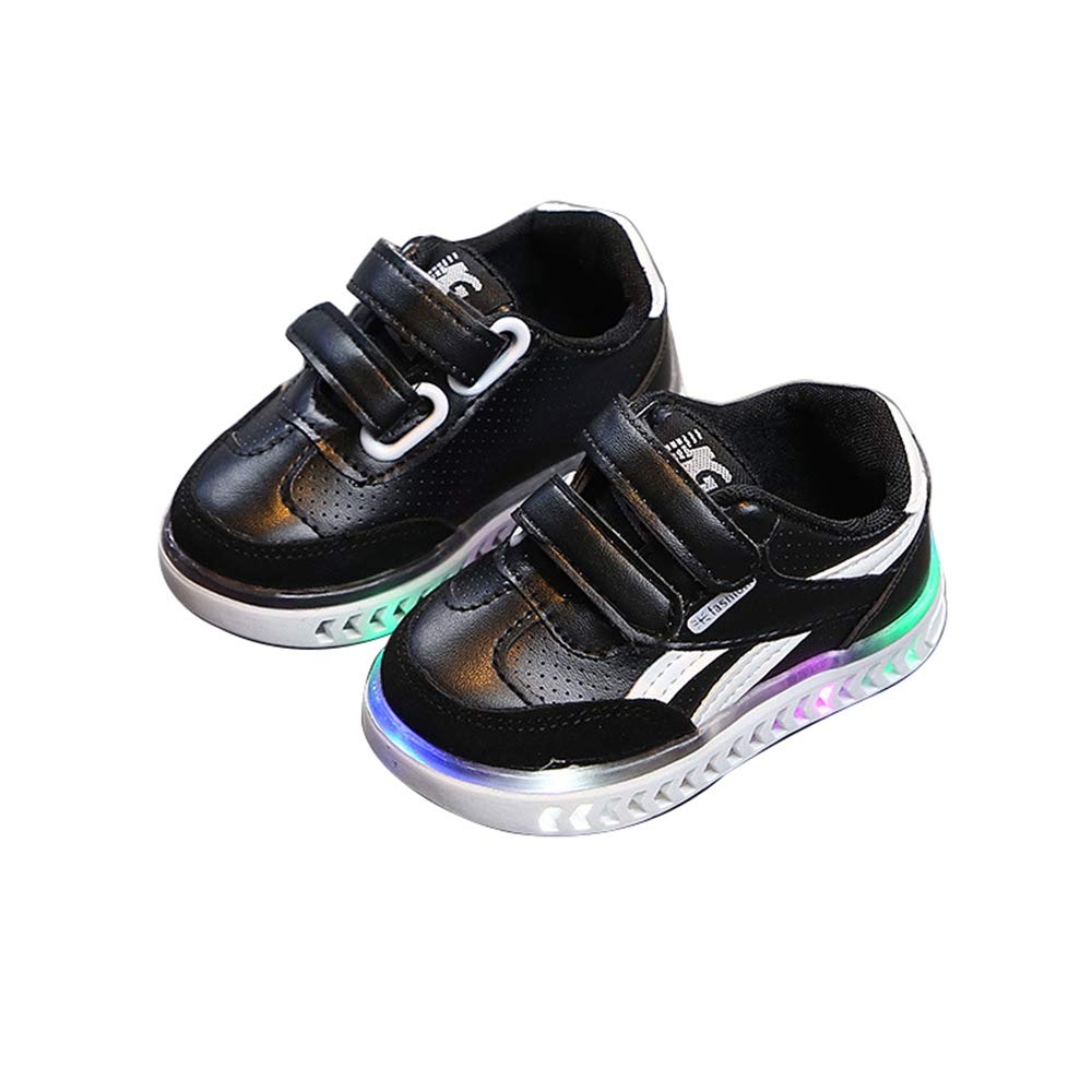 unyielding1 Light up Shoes Flashing Sneakers Led Shoes Luminous Light Shoes Boys Girls Black 25//8.5/ M/ US/ Toddler