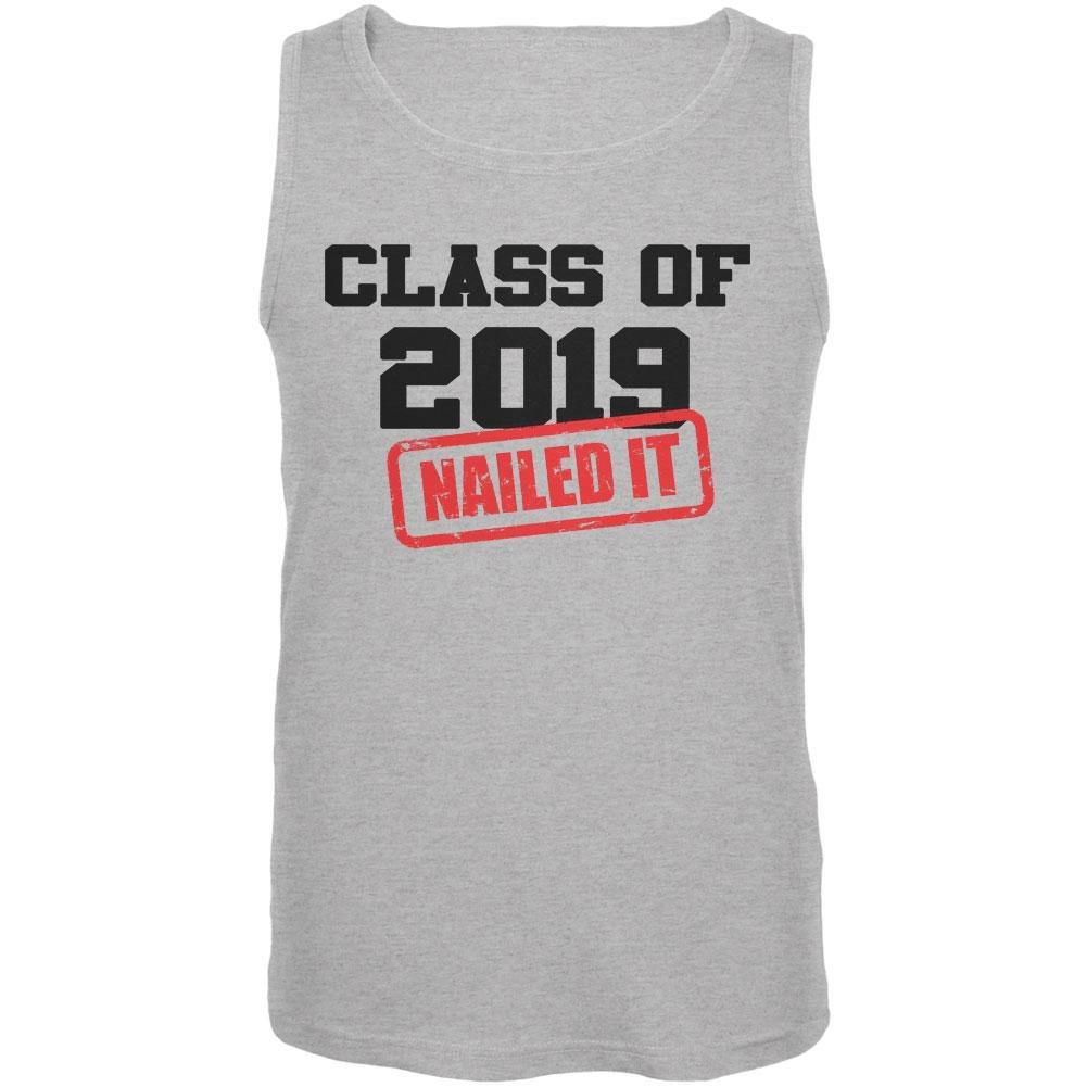Class of 2019 Nailed It Mens Tank Top Old Glory Graduation