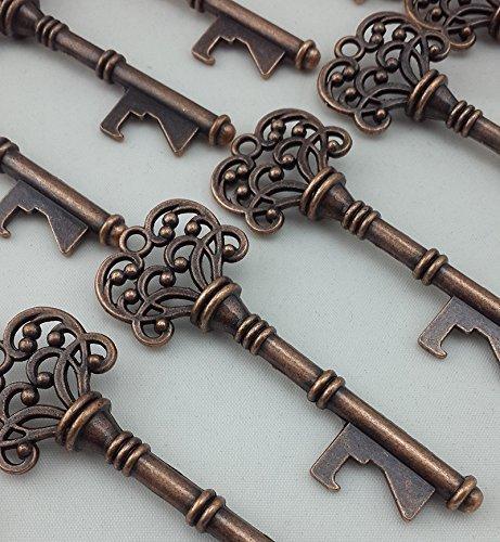 Amazon.com: Copper Skeleton Key Bottle Opener Bridal Shower Wedding ...