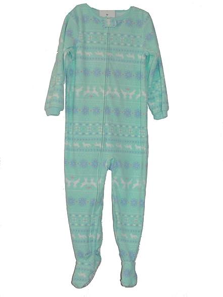 Amazon.com: Carter's Girl's Size 4T Mint Green Fair Isle Fleece ...