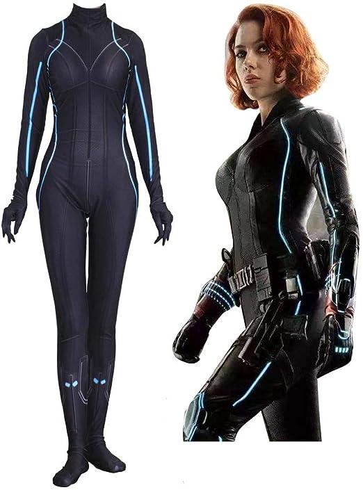 Cosplay Ropa Marvel Avengers Black Widow Cosplay Disfraz De Lycra ...