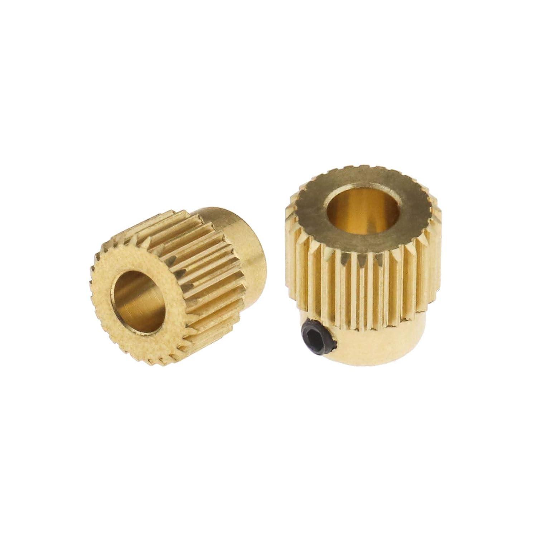 per stampante 3D MK7 MK8-5 mm ID 11 mm 5 estrusori per ingranaggi planetari ottone 26 denti