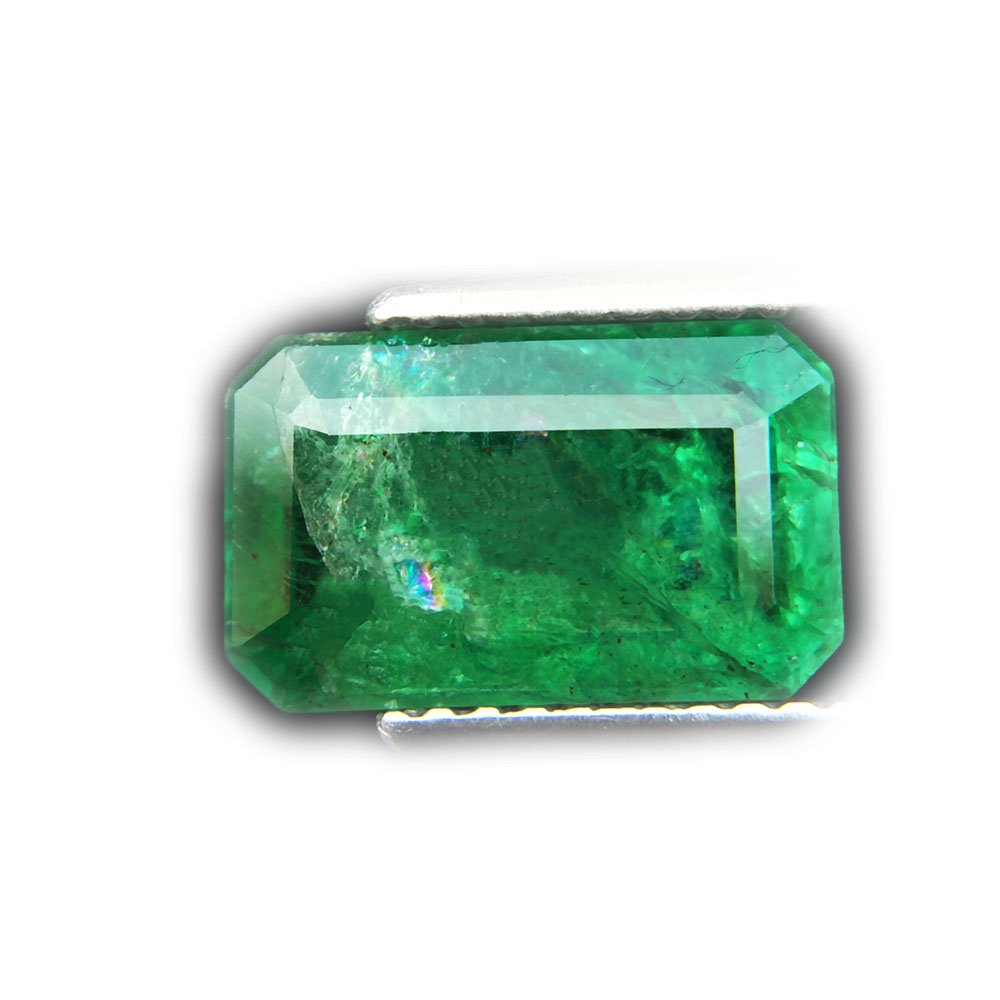 2.47ct Natural Octagon Unheated Green Emerald Zambia #B