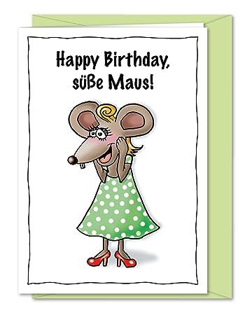 Susse Xxl Geburstagskarte Geburtstagsgrusse Mit Maus Grusskarte Zum