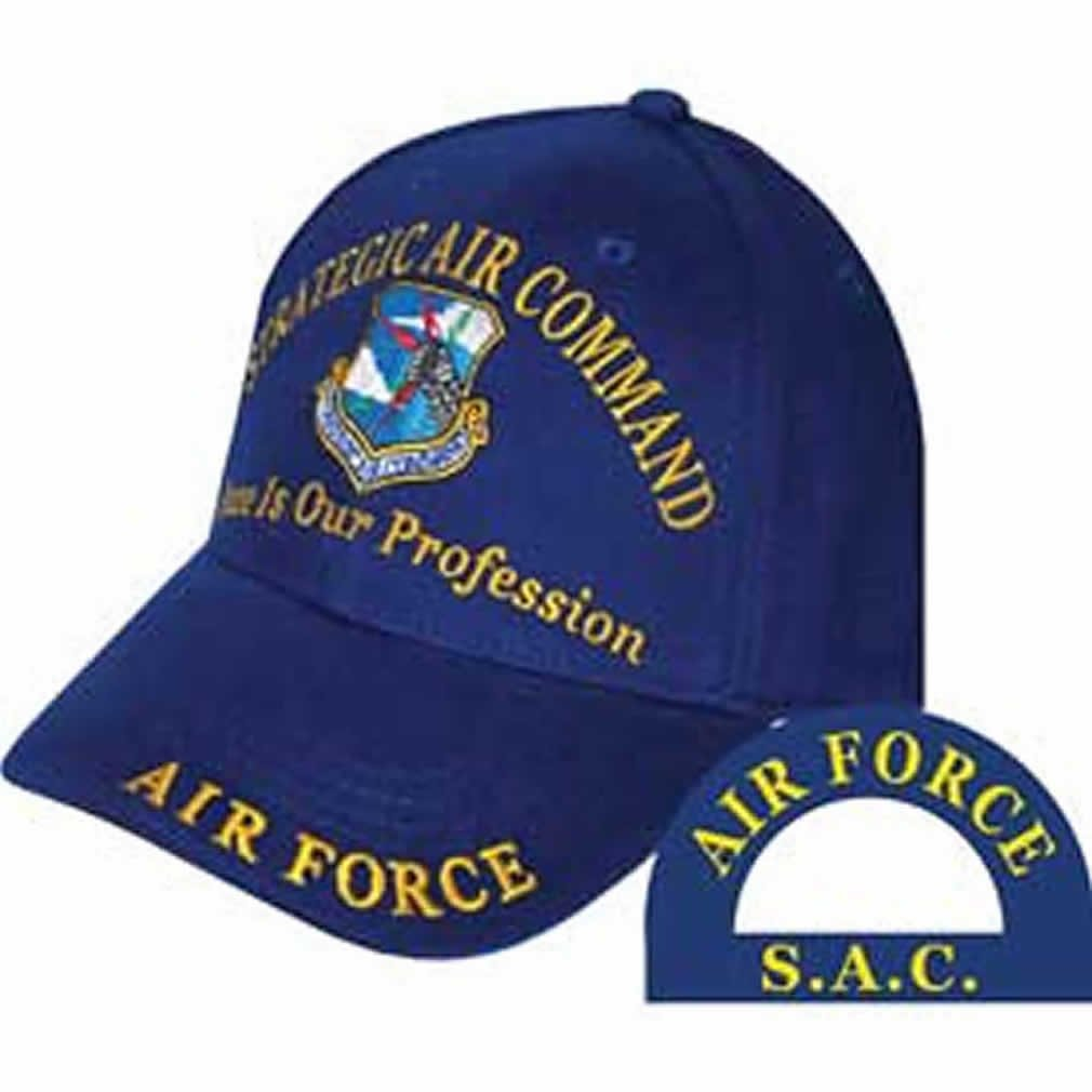 USAF STRATEGIC AIR COMMAND Direct Embroidered Hat - Blue - Veteran Owned Business