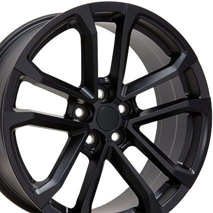 Oe Wheels 20 Inch Fits Chevy Camaro 10 2018 Zl1 Style Cv19 20x9 5 20x8 5 Rims Satin Black Set