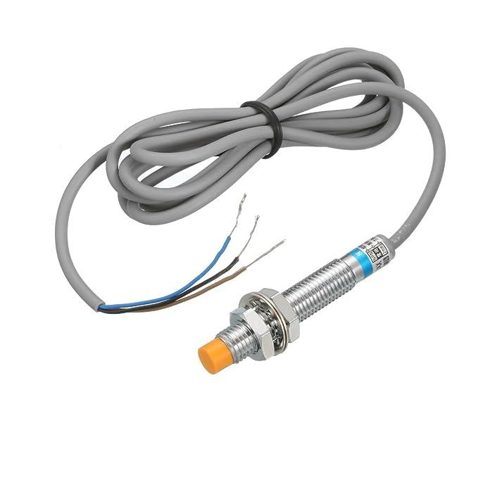 sourcing map 2mm Interruptor del Sensor de proximidad inductivo Detector NPN DC NO 6-36V LJ8A3-2-Z/EX: Amazon.es: Bricolaje y herramientas