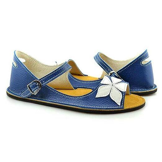 fc3eb12d94dcf Women's Summer Retro Buckle-Strap Sandals Flower Sweet Student Flat ...
