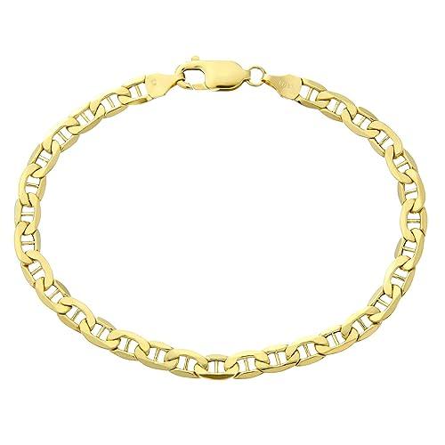Citerna 9 Karat Gelbgold, 19 cm, Anker, Armband, 19 cm lang, 0,5 cm breit