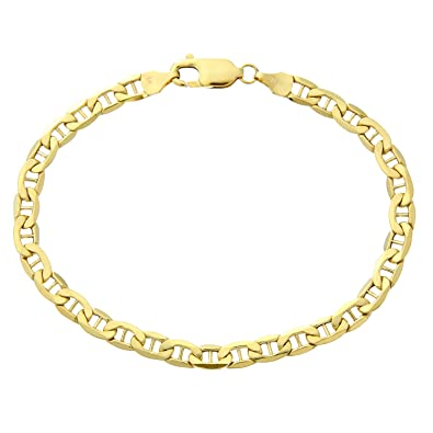 Citerna 7.5 inch/19 cm Length and 0.5 cm Width Anchor 9 ct Yellow Gold Bracelet wtxWM2