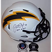 $549 » Justin Herbert Autographed Hand Signed Los Angeles Chargers Lunar Eclipse Speed Full Size Football Helmet - with NFL ROY 2020…