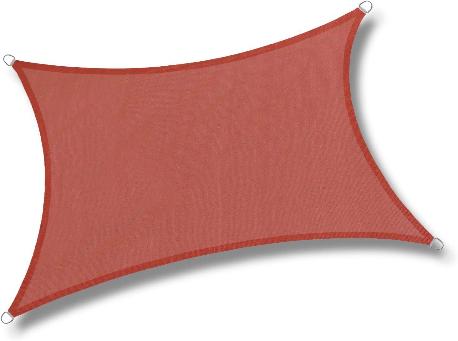 LOVE STORY 6'5'' x 9'10'' Rectangle Terra Red Sun Shade Sail Canopy UV Block Awning for Outdoor Patio Garden Backyard