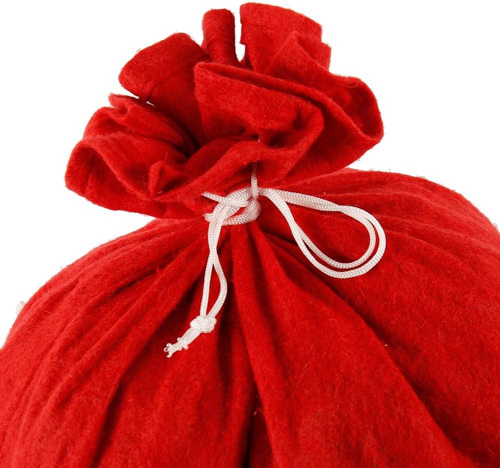 Yous Auto 2pack Large Christmas Santa Sack Vintage Xmas Present Sacks 70x50cm Drawstring Gift Bags Personalised Present Bags