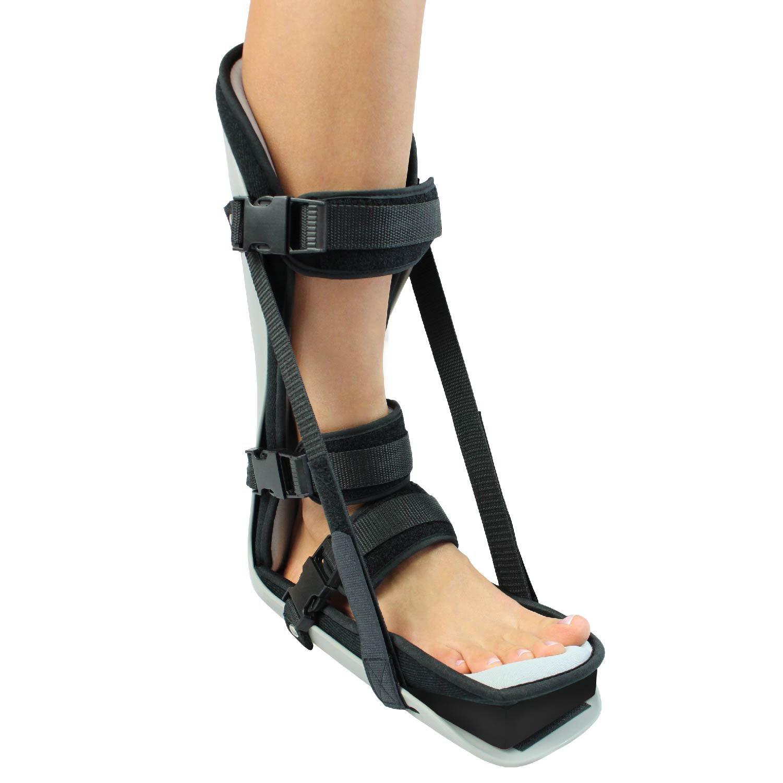 Plantar Fasciitis Splint By Vive - Hard Plantar Fasciitis Night Splint Relieves Inflammation & Pain - Foot Splint Features Adjustable Velcro Straps for Perfect Fit