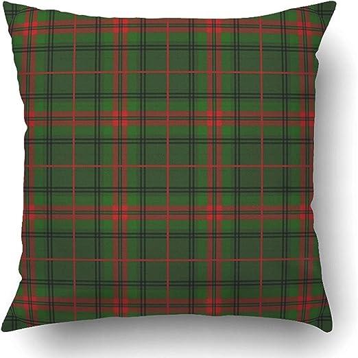 Moily Fayshow Fundas de cojín Verde a Cuadros Tartán escocés Falda ...