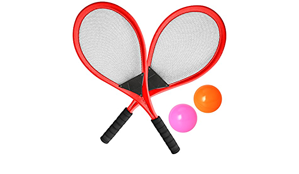 Including 6 Badminton Badminton Racket Outdoor Entertainments and Exercise Fitness shangji 2 Pack Badminton Set Random Color for Family Play