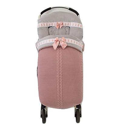 Saco para silla de paseo. Varios modelos y colores disponibles (Oslo rosa maquillaje/gris)