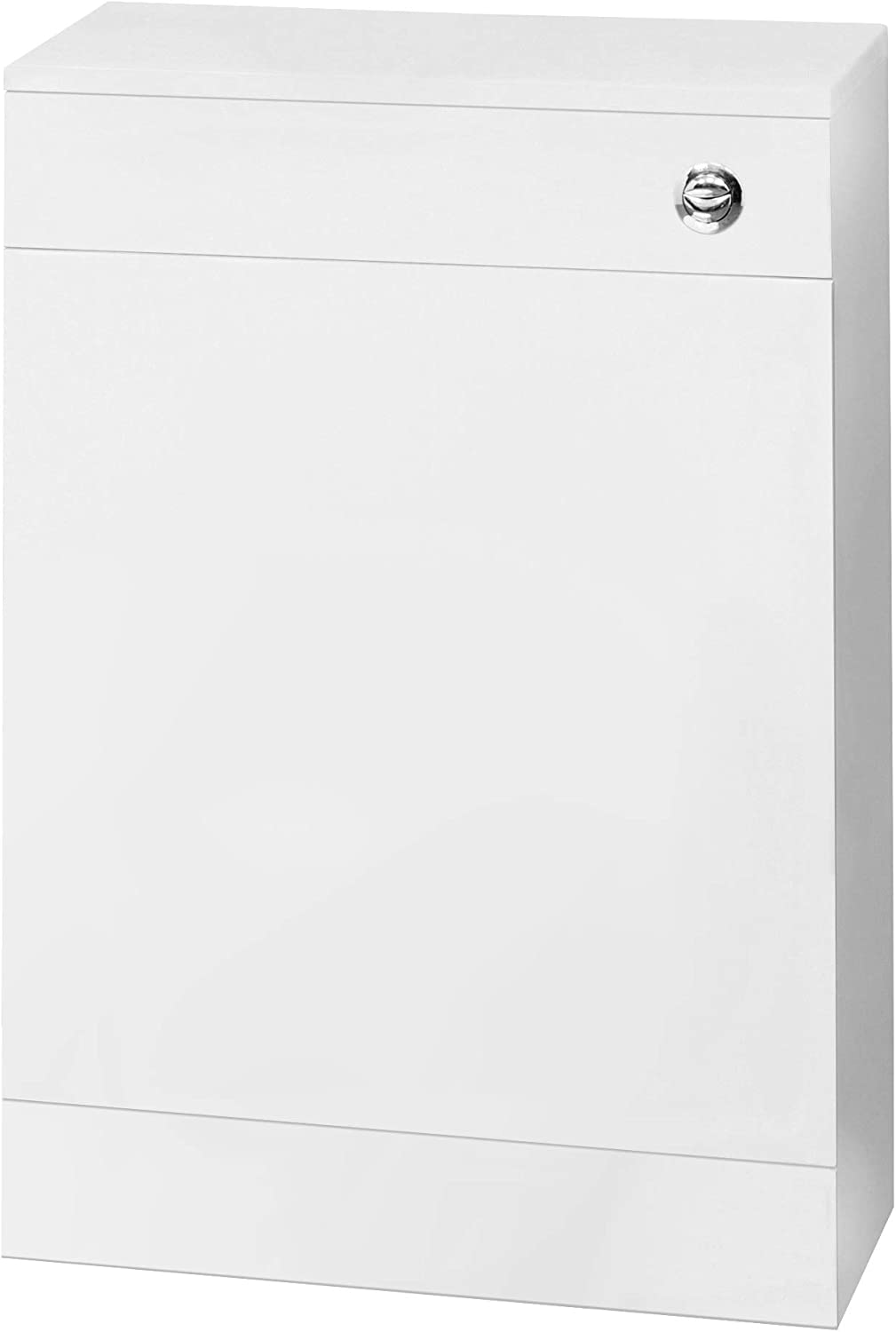 Nuie NVS142 Mayford | Modern Bathroom Floor Standing Cloakroom WC Unit with Free Concealed Cistern (Excludes Pan), 500mm x 770mm, Gloss White, 500mm200mm