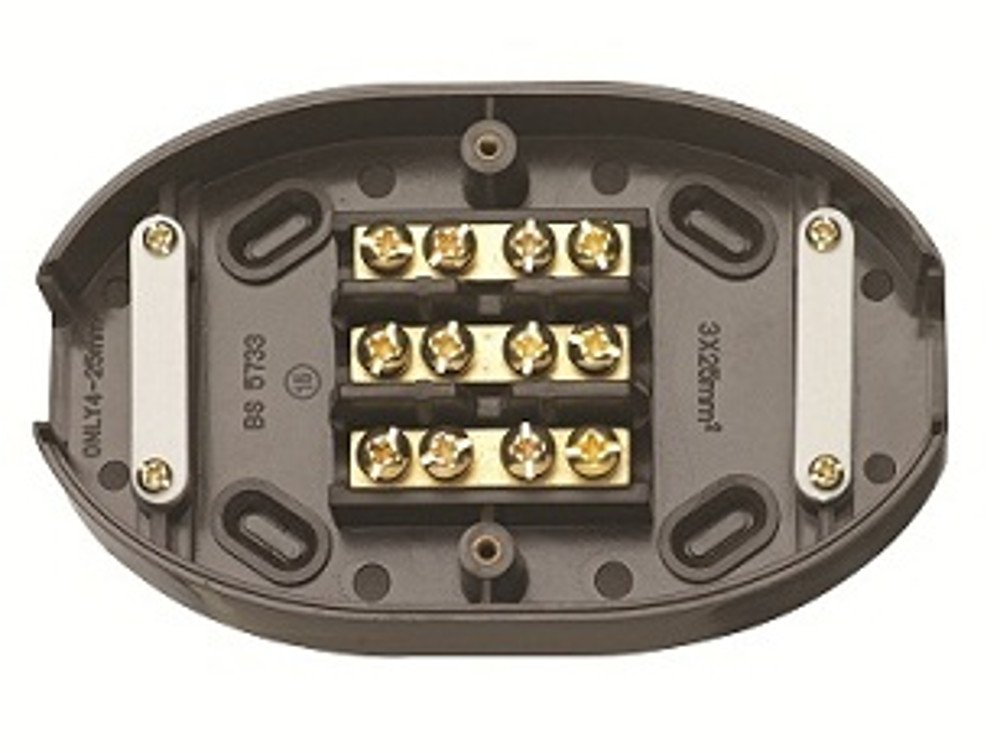 Pack of 5 Contactum CAC2760 60A 3 Terminal Junction Box Black