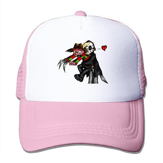 XJBD Adult Nightmare On Elm Street Jason Voorhees And Freddy Krueger  Trucker Caps Pink 5edf470aae2