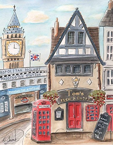 Travel Themed Boy's Wall Art, London Nursery Personalized Ar