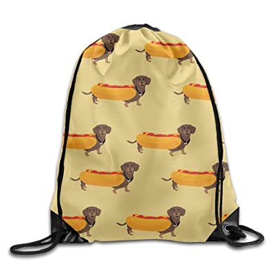 good Hot Dogs Dachshund Men & Women Sport Gym Sack Drawstring Backpack Bag Sackpack Rucksack