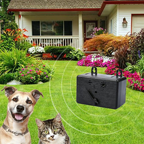 Wonlex Outdoor Dog Silencer Ultrasonic Bark Control, Range of 50 Feet Mini Dog Stop Baking