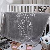 I-baby Luxury Ultra Soft Plush Baby Large Blankets, Super Warm,Lightweight Bed Blanket,43 x 55 Inch,Grey