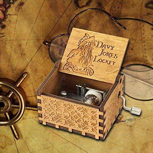 Nice Home 247 Caja Musical de Madera Tallada con manivela y ...