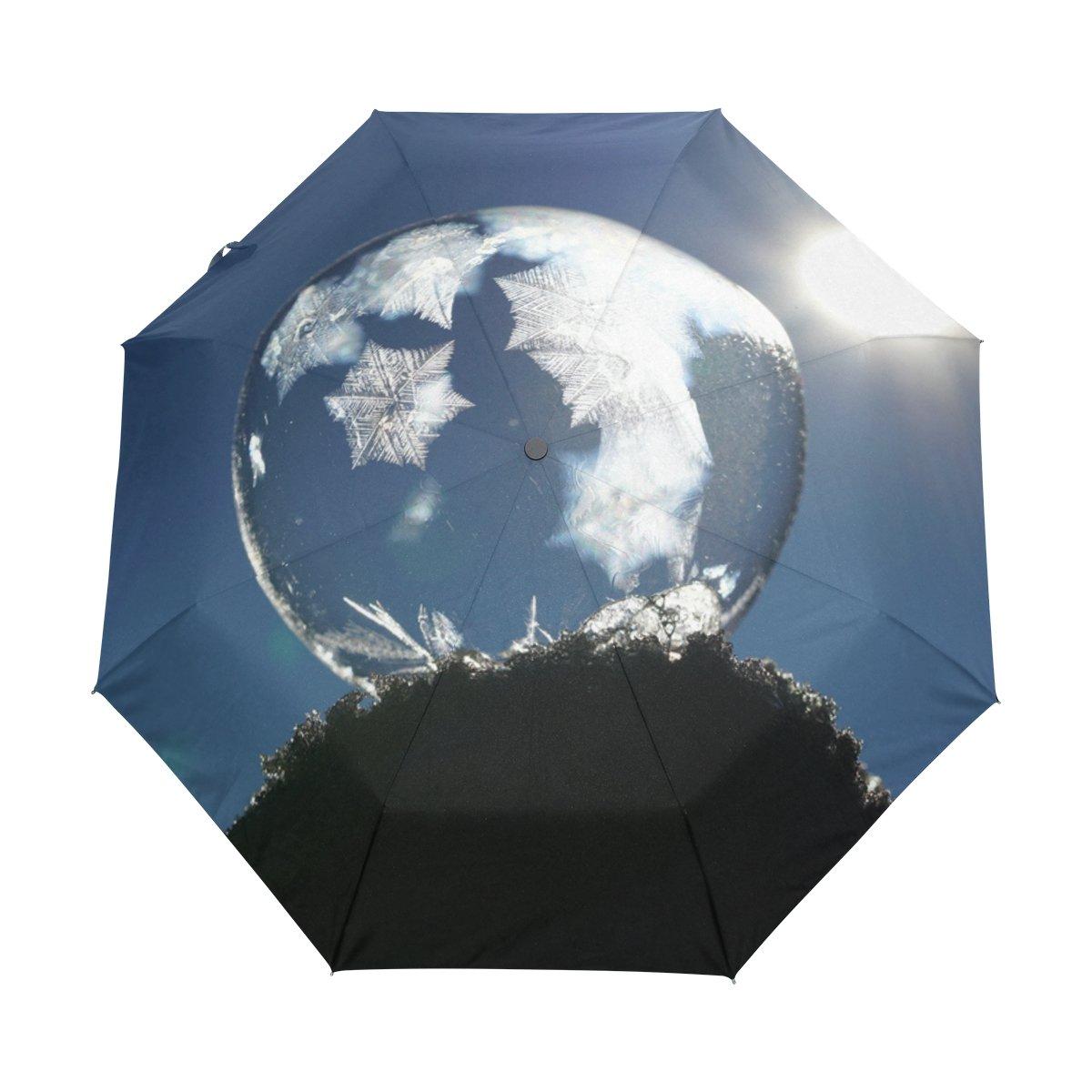 foldable Umbrella Custom Yellow Rose Compact Travel Windproof Rainproof