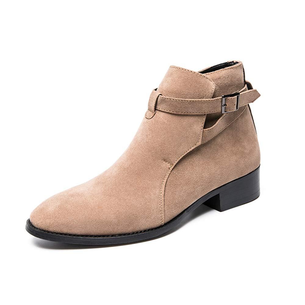 YAJIE-Stiefel, Herren Business-Stiefeletten, lässig bequem superleichte hohe Stiefel (Farbe   Camel, Größe   38 EU)