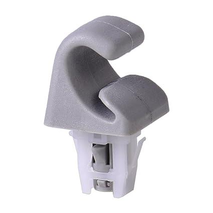 Amazon.com  beler Grey Auto Sunvisor Sun Visor Clip Hook Bracket for ... 2e005c42997